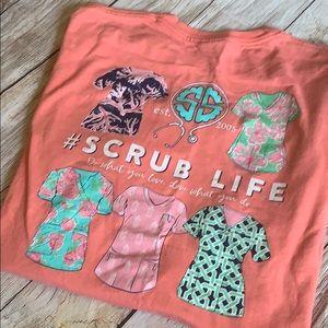 Simply southern scrub life tee